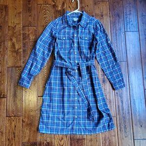 Llbean plaid shirt dress